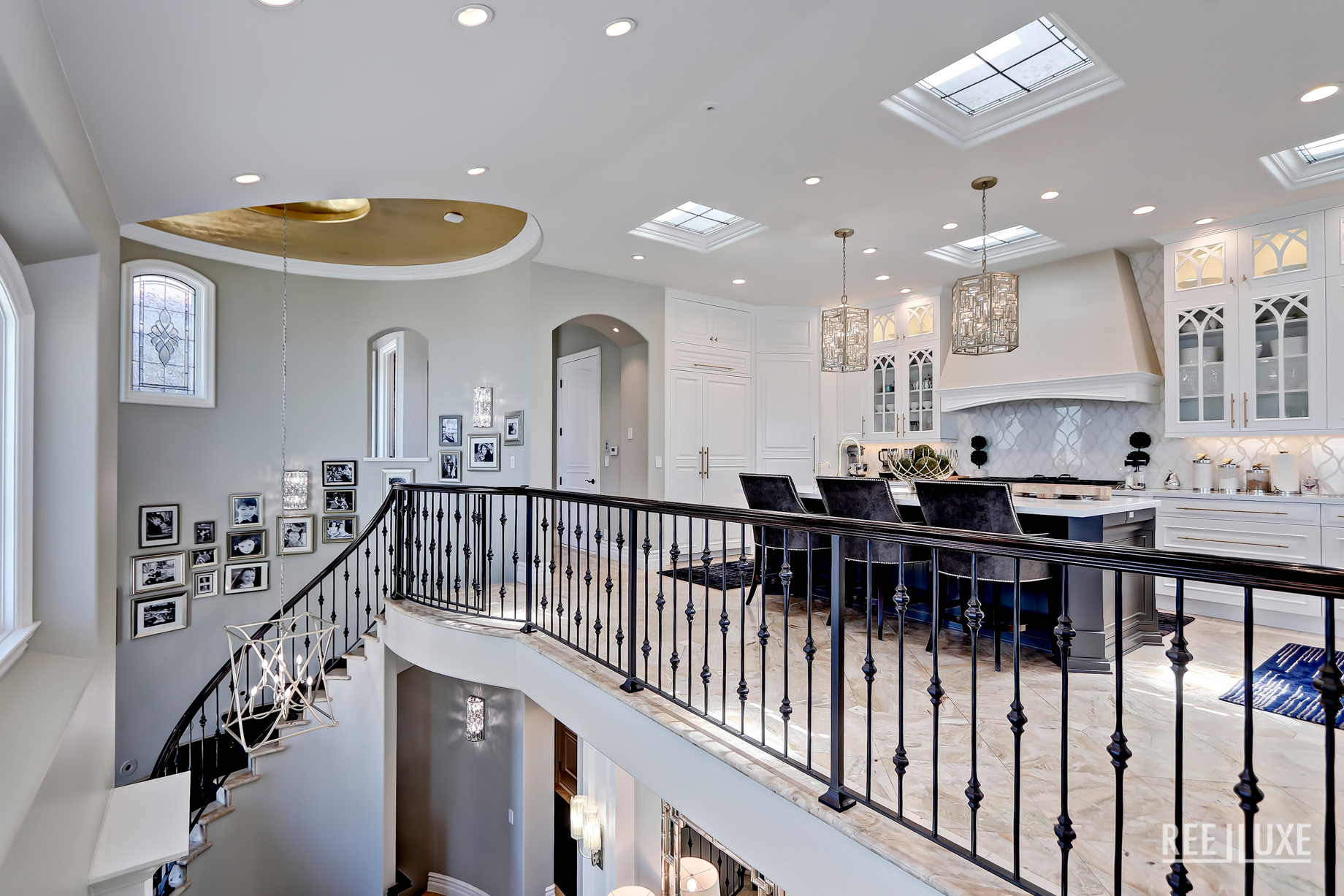 Ultimate California Luxury Living - 1920 The Strand, Manhattan Beach, CA, USA - Stairs and Kitchen