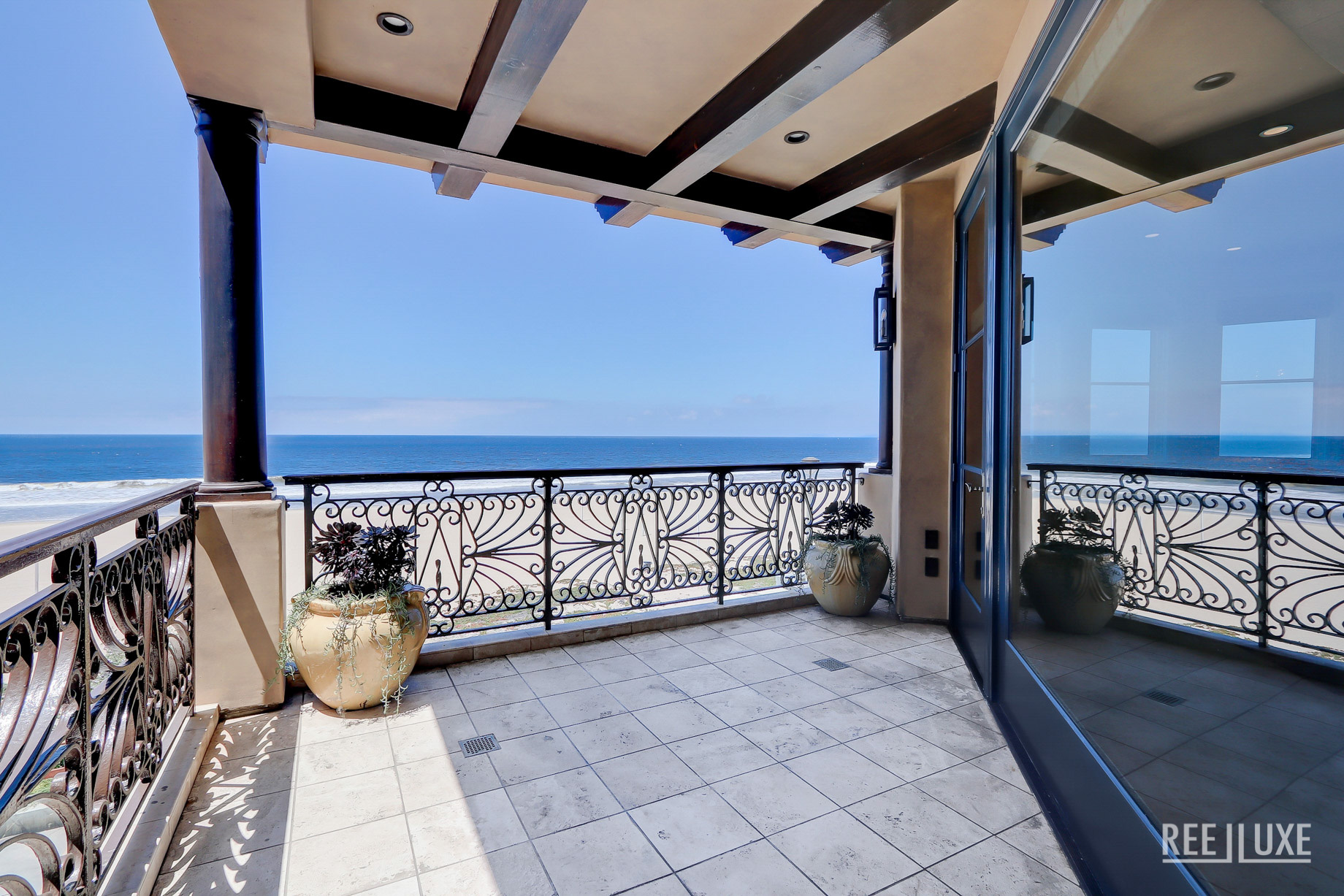 Ultimate California Luxury Living - 1920 The Strand, Manhattan Beach, CA, USA - Master Bedroom Deck with Ocean View