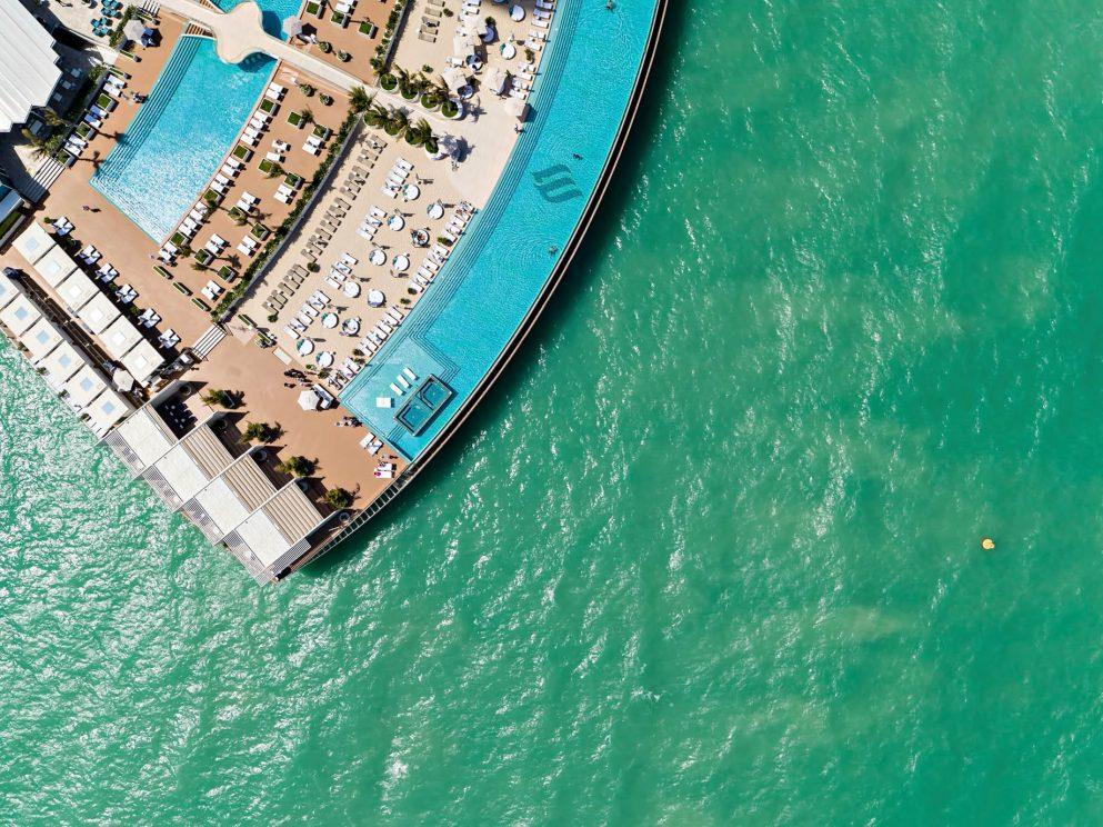 Burj Al Arab Luxury Hotel - Jumeirah St, Dubai, UAE - Burj Al Arab Terrace Overhead