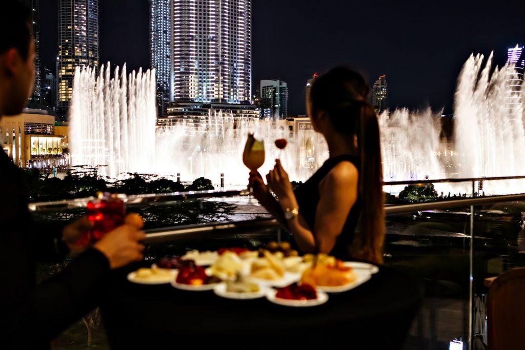 Armani Hotel Dubai - Burj Khalifa, Dubai, UAE - Fountain View Dining