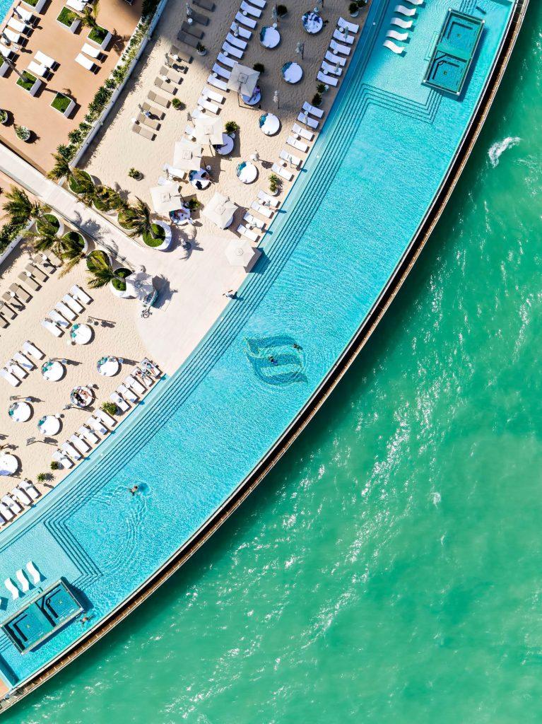 Burj Al Arab Luxury Hotel - Jumeirah St, Dubai, UAE - Burj Al Arab Terrace Infinity Pool Overhead