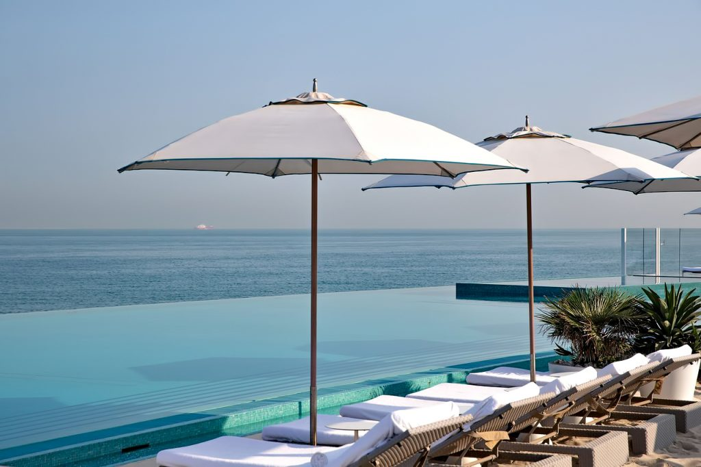 Burj Al Arab Luxury Hotel - Jumeirah St, Dubai, UAE - Burj Al Arab Terrace Poolside Ocean View