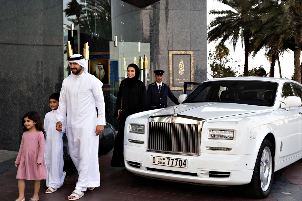 Burj Al Arab Luxury Hotel - Jumeirah St, Dubai, UAE - Rolls Royce Arrival