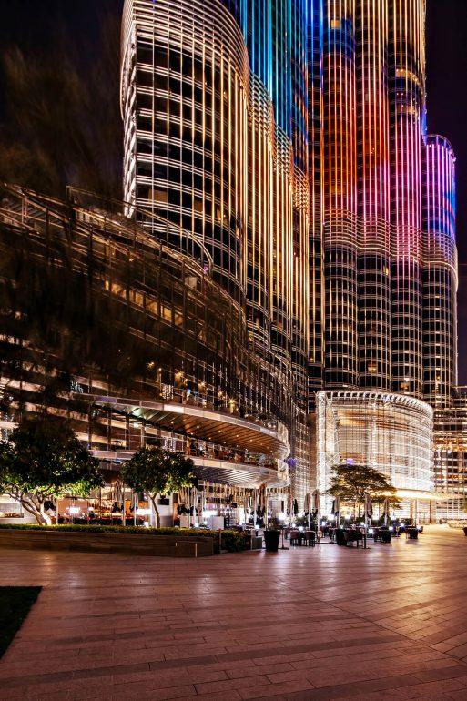 Armani Hotel Dubai - Burj Khalifa, Dubai, UAE - Burj Khalifa Night Streetview