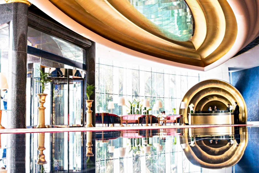 Burj Al Arab Luxury Hotel - Jumeirah St, Dubai, UAE - Entrance Lobby