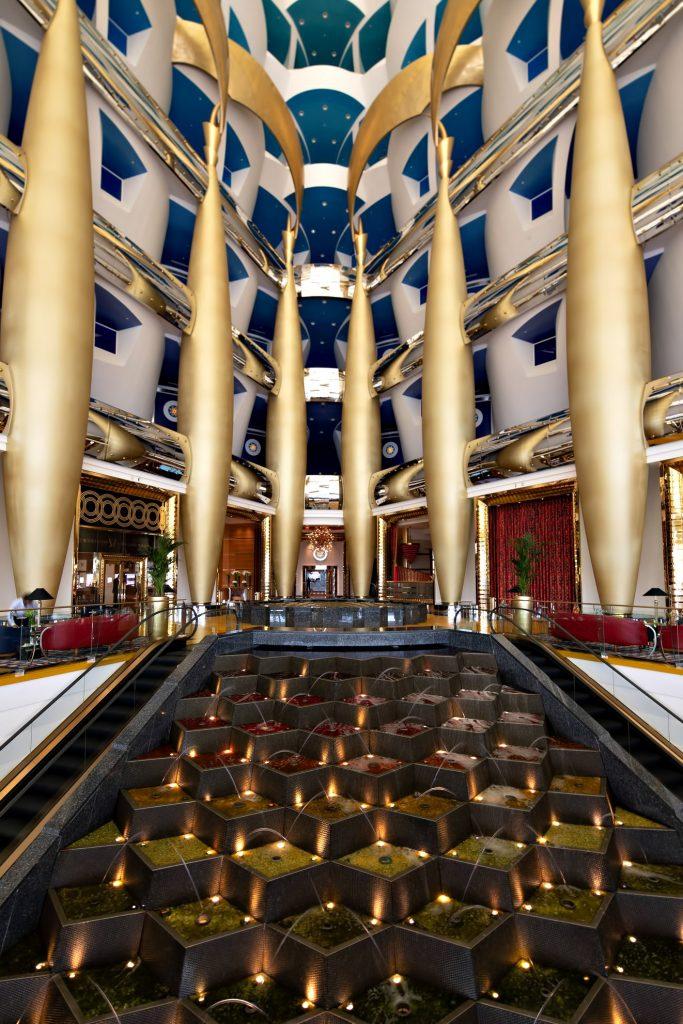 Burj Al Arab Luxury Hotel - Jumeirah St, Dubai, UAE - Lobby Escalators