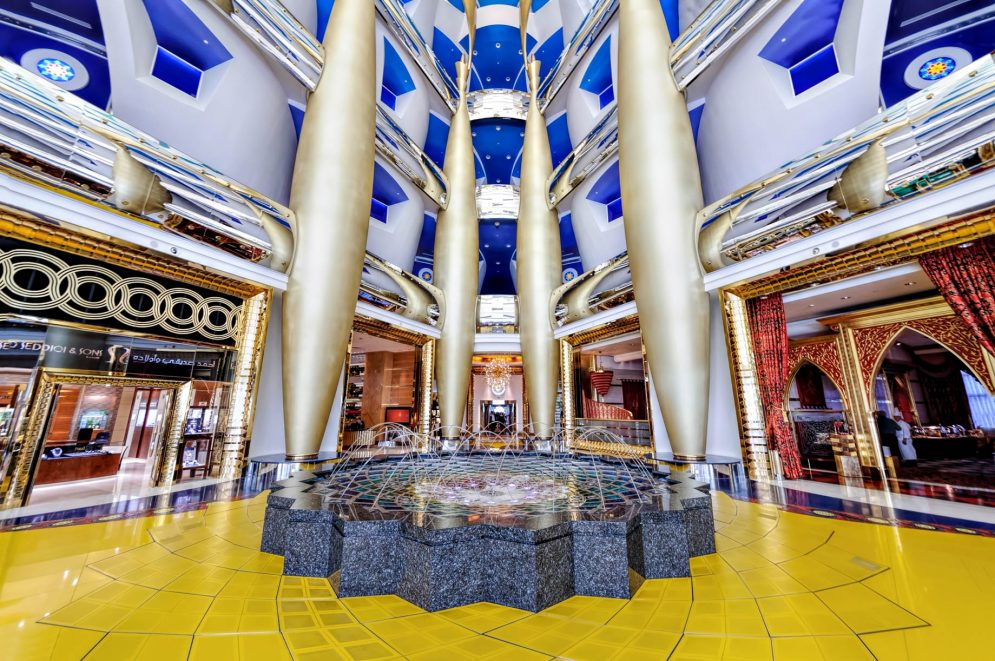 Burj Al Arab Luxury Hotel - Jumeirah St, Dubai, UAE - Upper Mezzanine