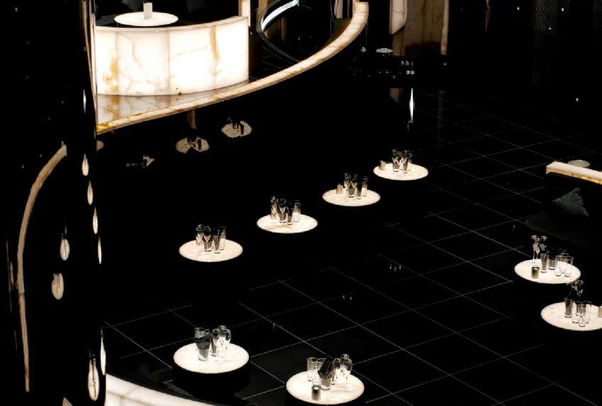 Armani Hotel Dubai - Burj Khalifa, Dubai, UAE - Armani Prive Night Club Lounge Tables