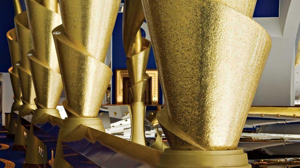Burj Al Arab Luxury Hotel - Jumeirah St, Dubai, UAE - Gold Pillars