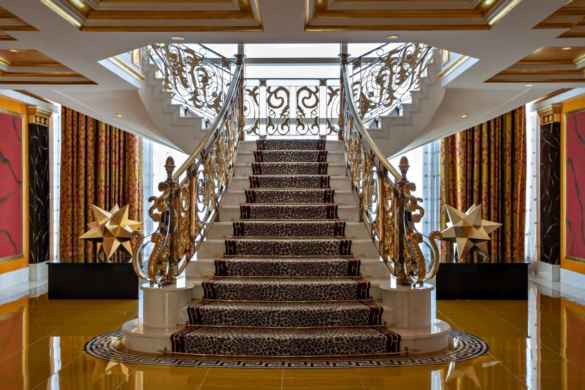 Burj Al Arab Luxury Hotel - Jumeirah St, Dubai, UAE - Royal Suite Staircase