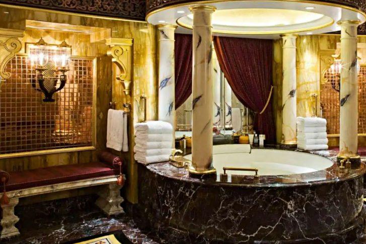 Burj Al Arab Luxury Hotel - Jumeirah St, Dubai, UAE - Royal Suite Bathroom