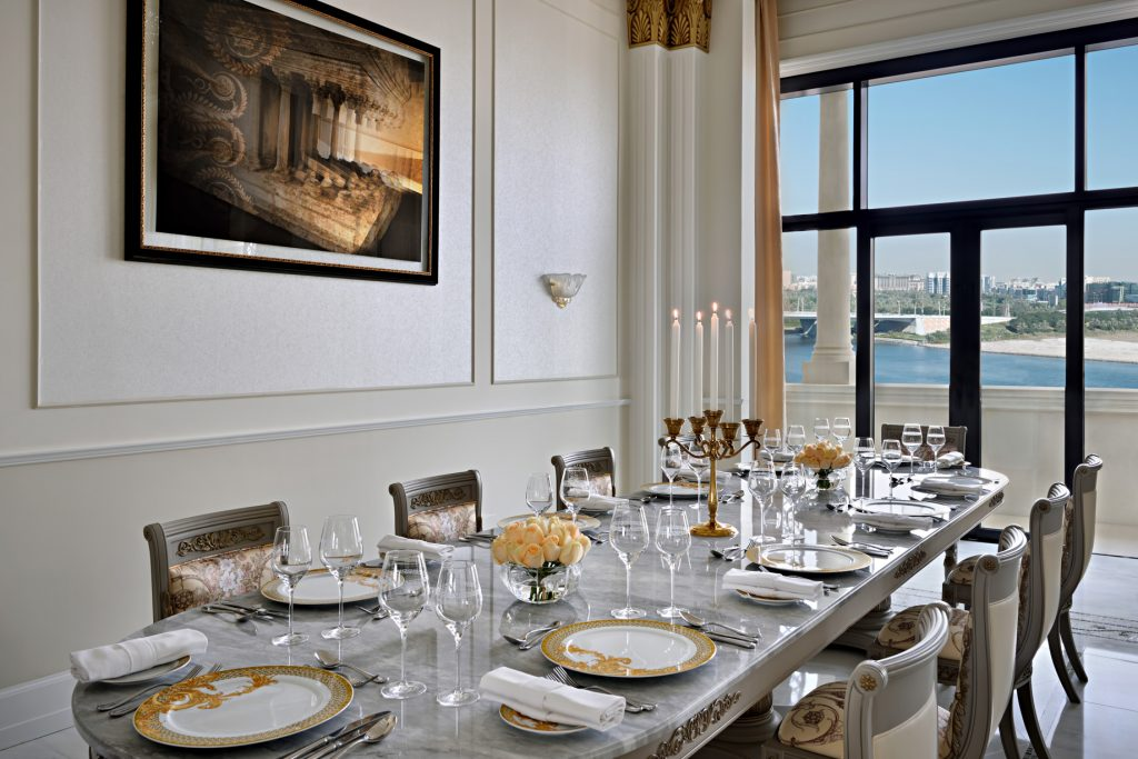 Palazzo Versace Dubai Hotel - Jaddaf Waterfront, Dubai, UAE - Imperial Suite Dining Area
