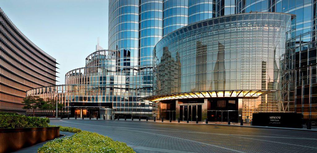 Armani Hotel Dubai - Burj Khalifa, Dubai, UAE - Armani Dubai Exterior Hotel Entrance