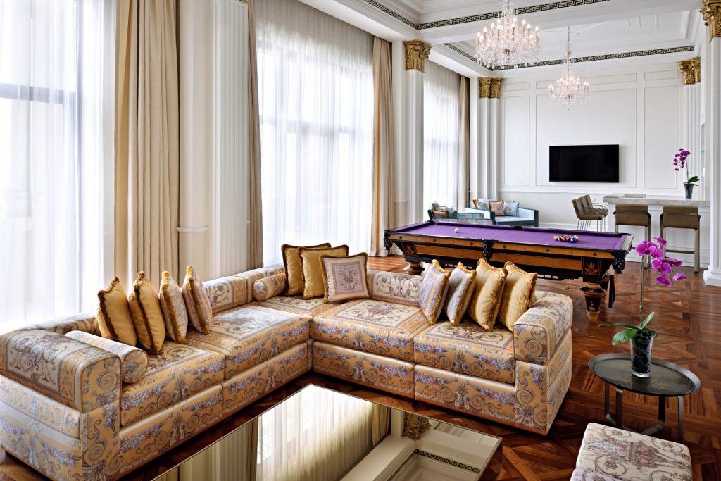 Palazzo Versace Dubai Hotel - Jaddaf Waterfront, Dubai, UAE - Imperial Suite Leisure Area