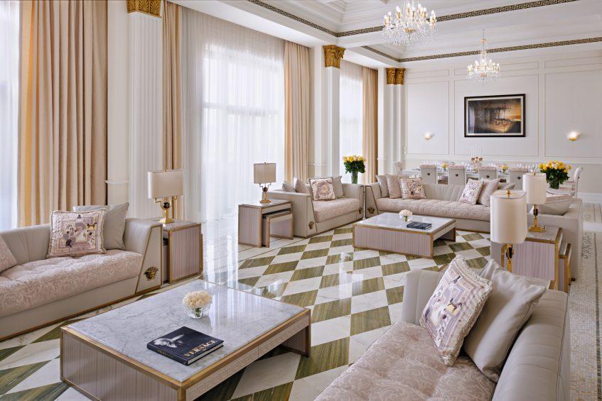 Palazzo Versace Dubai Hotel - Jaddaf Waterfront, Dubai, UAE - Modern Imperial Suite Living Area