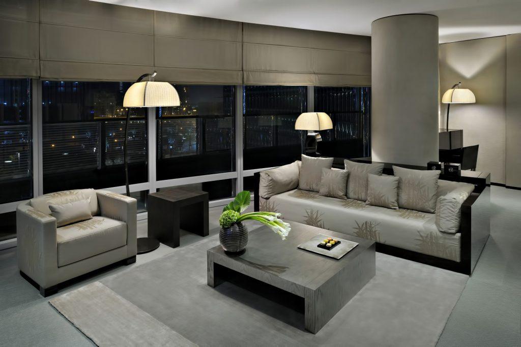 Armani Hotel Dubai - Burj Khalifa, Dubai, UAE - Armani Suite Living Room
