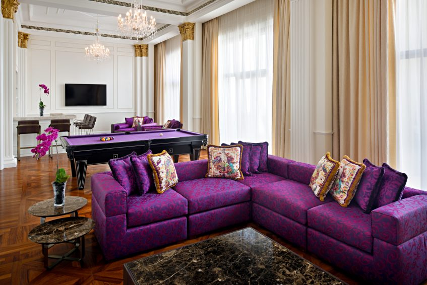 Palazzo Versace Dubai Hotel - Jaddaf Waterfront, Dubai, UAE - Modern Imperial Suite Leisure Area