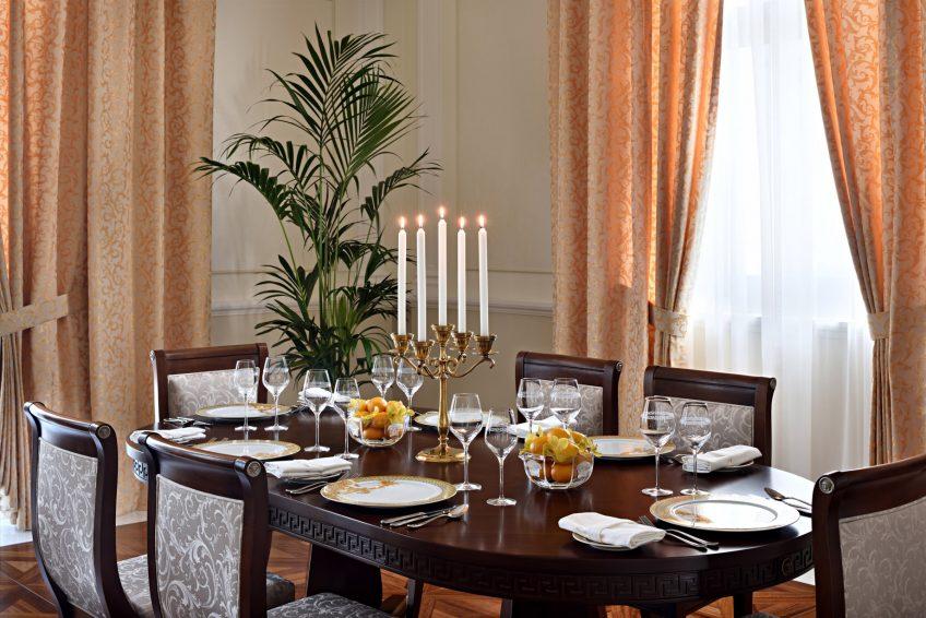 Palazzo Versace Dubai Hotel - Jaddaf Waterfront, Dubai, UAE - Signature Suite Dining Area