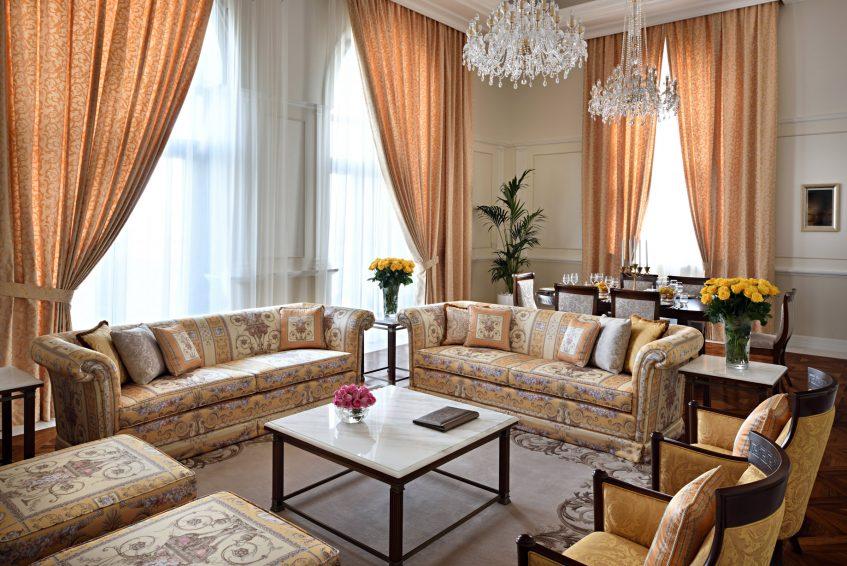 Palazzo Versace Dubai Hotel - Jaddaf Waterfront, Dubai, UAE - Signature Suite Living Area