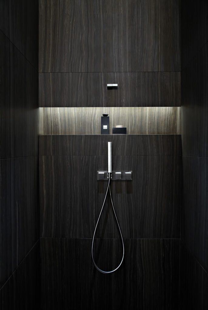 Armani Hotel Dubai - Burj Khalifa, Dubai, UAE - Armani Bathroom Shower
