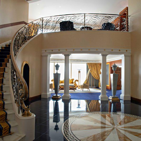 Burj Al Arab Luxury Hotel - Jumeirah St, Dubai, UAE - Suite Stairs