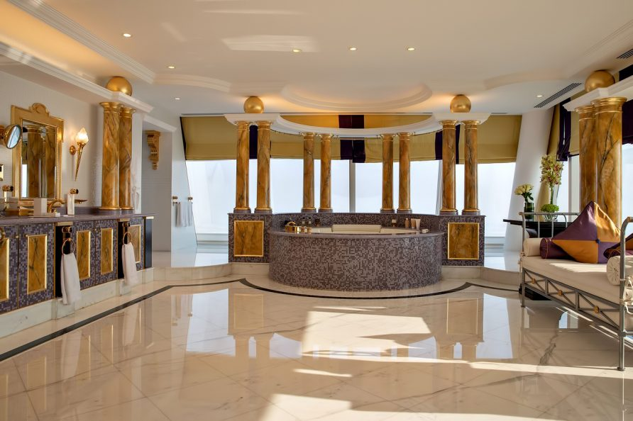 Burj Al Arab Luxury Hotel - Jumeirah St, Dubai, UAE - Presidential Suite Bathroom
