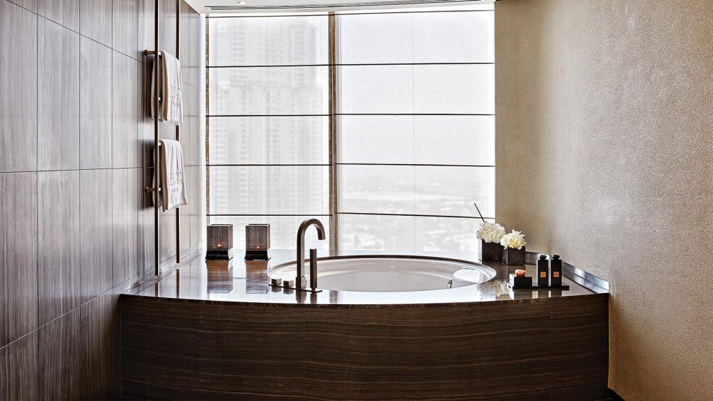 Armani Hotel Dubai - Burj Khalifa, Dubai, UAE - Armani Suite Bathroom Tub