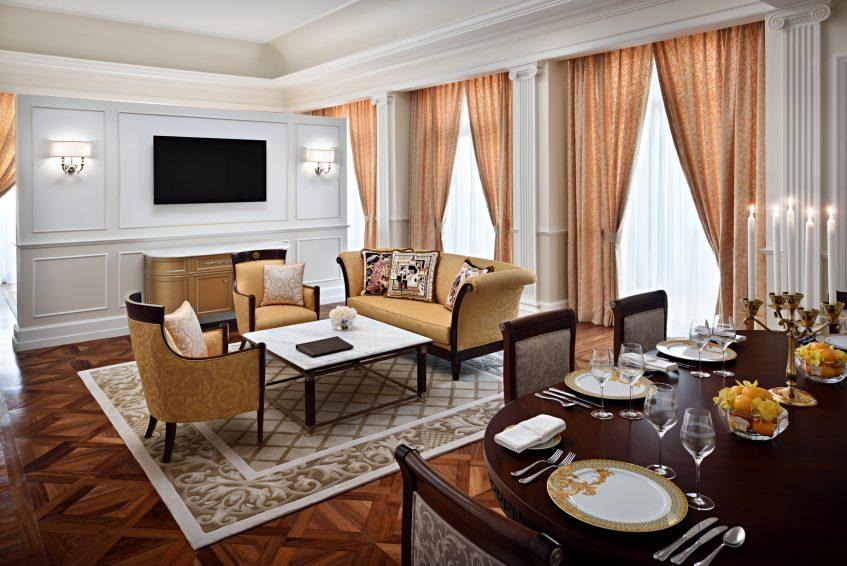 Palazzo Versace Dubai Hotel - Jaddaf Waterfront, Dubai, UAE - Palazzo Suite Living and Dining Room