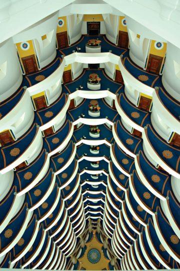 Burj Al Arab Luxury Hotel - Jumeirah St, Dubai, UAE - Atrium
