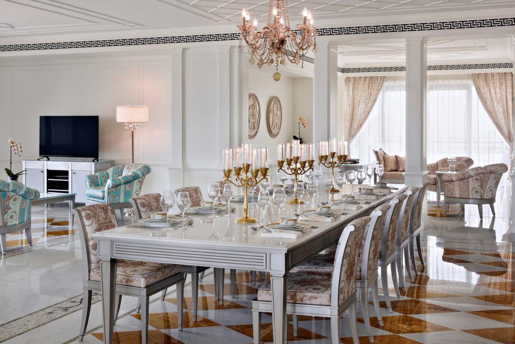 Palazzo Versace Dubai Hotel - Jaddaf Waterfront, Dubai, UAE - Versace Residence Dining Area
