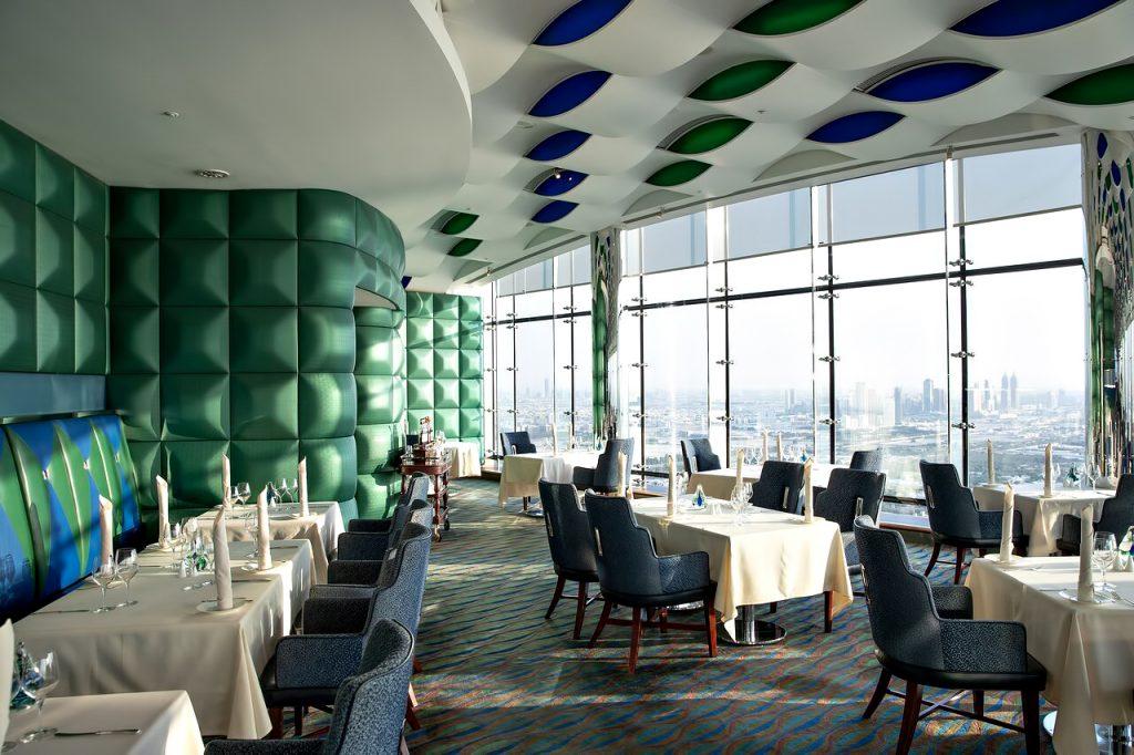 Burj Al Arab Luxury Hotel - Jumeirah St, Dubai, UAE - Skyview Dining Room