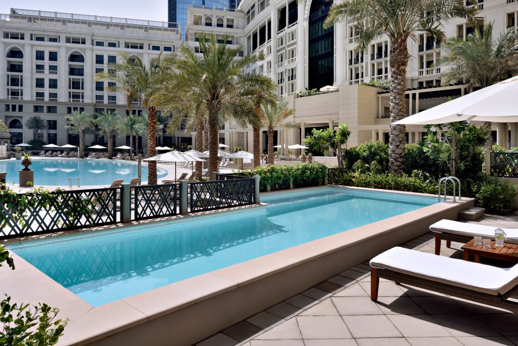 Palazzo Versace Dubai Hotel - Jaddaf Waterfront, Dubai, UAE - 3 Bedroom Residence Pool