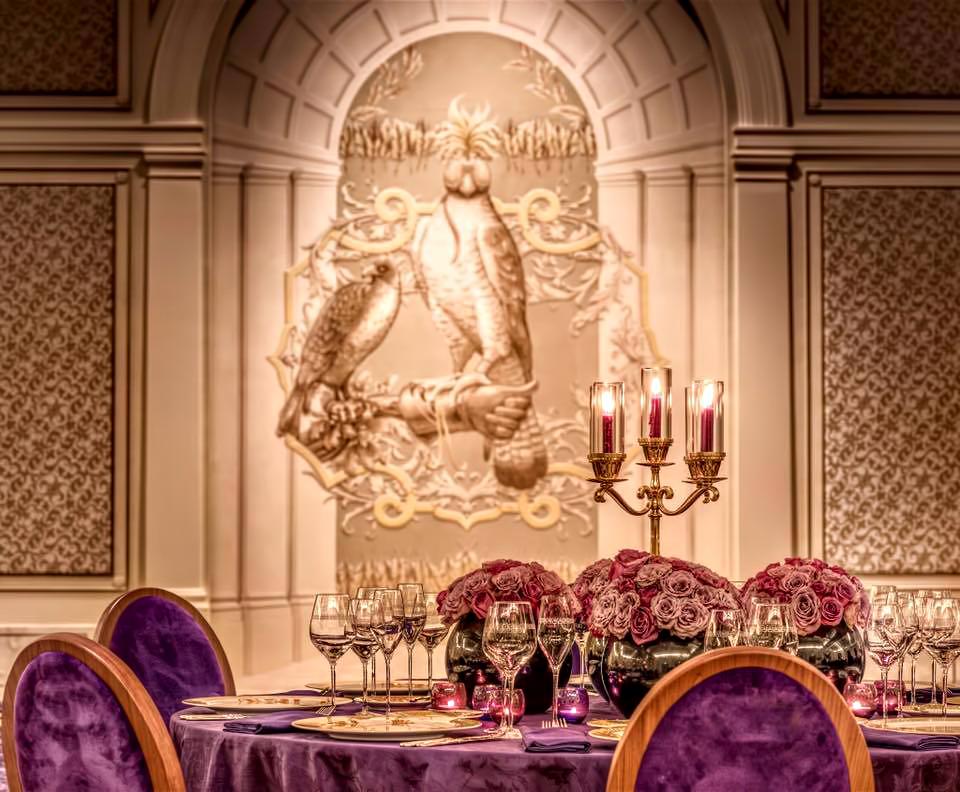 Palazzo Versace Dubai Hotel - Jaddaf Waterfront, Dubai, UAE - Gala Ballroom Dining