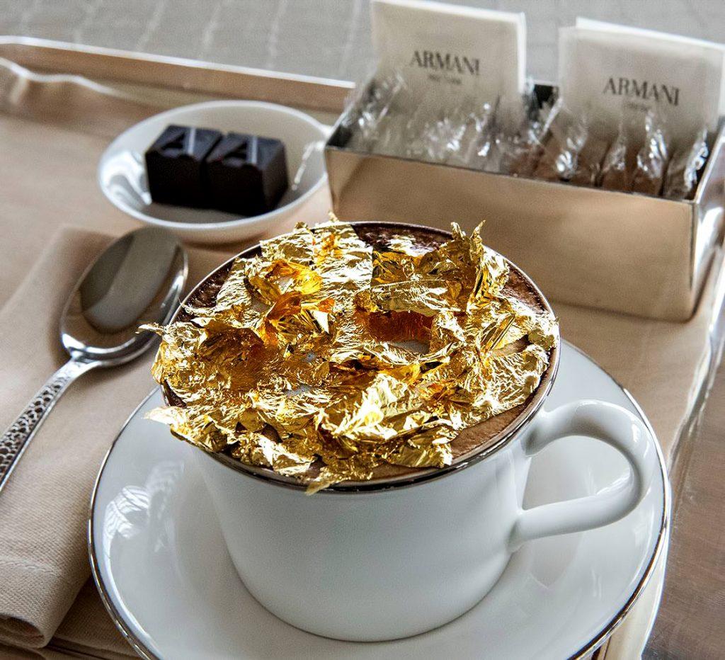 Armani Hotel Dubai - Burj Khalifa, Dubai, UAE - Armani Signature Golden Cappuccino
