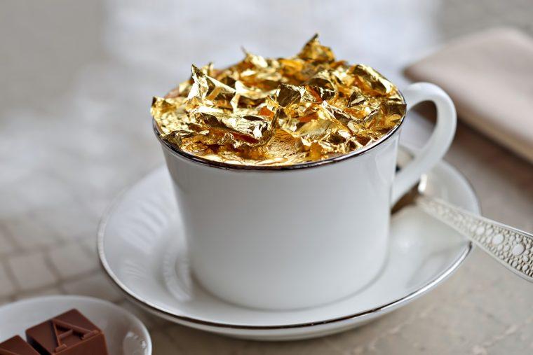 Armani Hotel Dubai - Burj Khalifa, Dubai, UAE - Armani Cappuccino Sprinkled With 23 Carat Gold Flakes