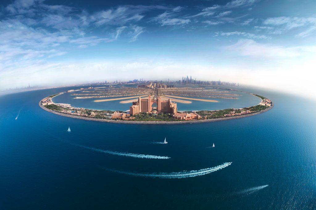 Atlantis The Palm Luxury Resort - Crescent Rd, Dubai, UAE - Aerial View