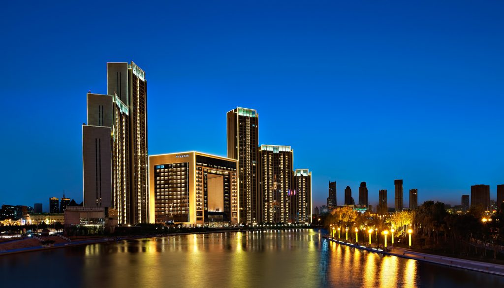 The St. Regis Tianjin Luxury Hotel - Tianjin, China - Exterior Night