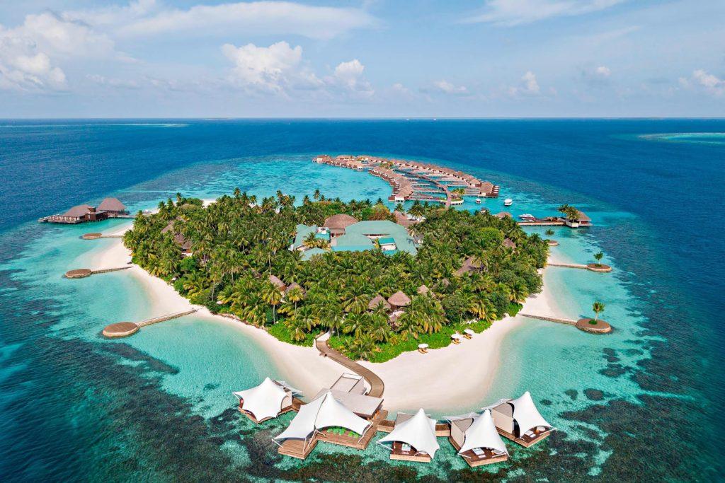 W Maldives Luxury Resort - Fesdu Island, Maldives - Private Island Aerial View