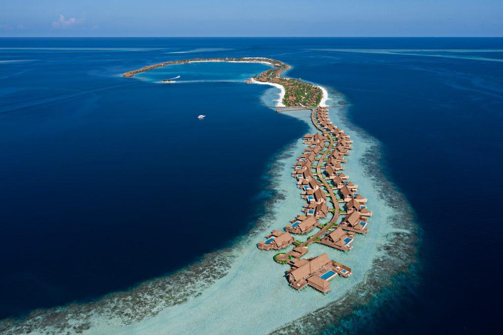 Waldorf Astoria Maldives Ithaafushi Luxury Resort - Ithaafushi Island, Maldives - Aerial View