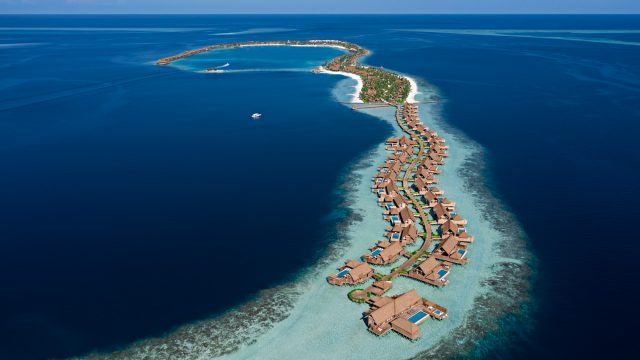 Waldorf Astoria Maldives Ithaafushi Luxury Resort - Ithaafushi Island, Maldives - Aerial View