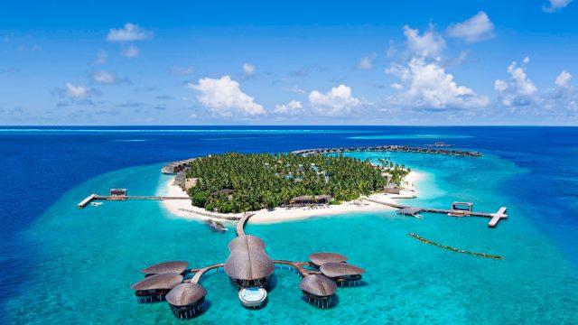 The St. Regis Maldives Vommuli Luxury Resort - Dhaalu Atoll, Maldives - Aerial Vommuli Island