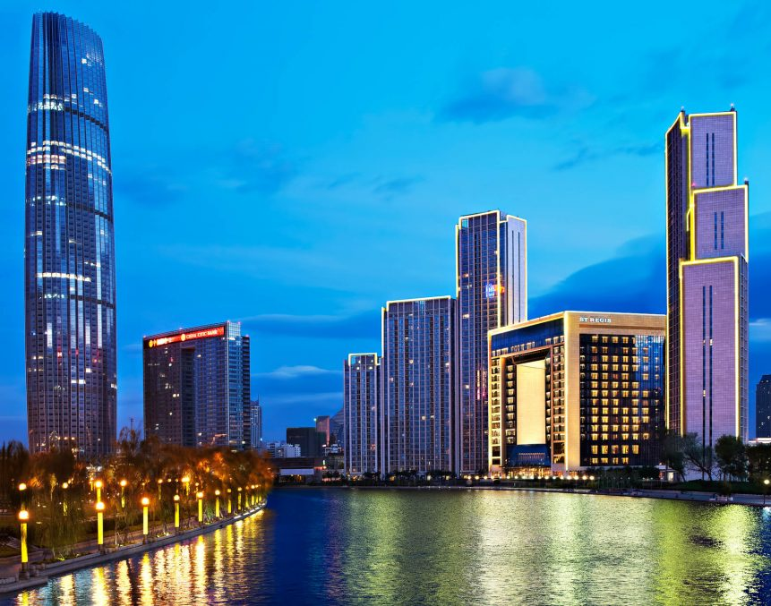 The St. Regis Tianjin Luxury Hotel - Tianjin, China - Exterior Night River View