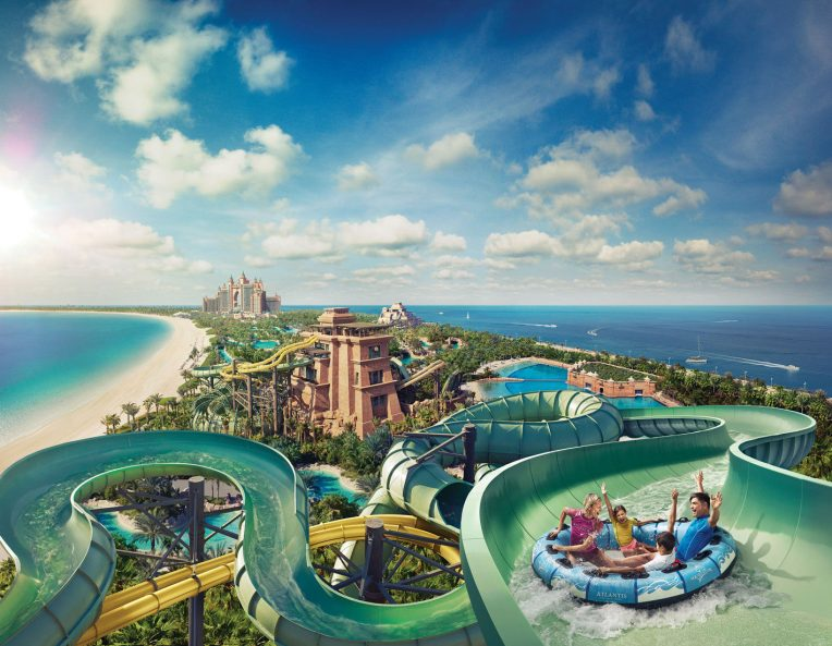Atlantis The Palm Luxury Resort - Crescent Rd, Dubai, UAE - Aquaventure Waterpark Water Slide