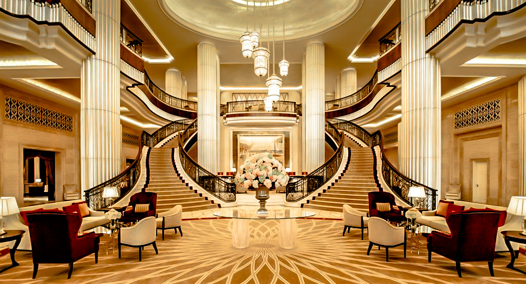 The St. Regis Abu Dhabi Luxury Hotel - Abu Dhabi, United Arab Emirates - Grand Lobby