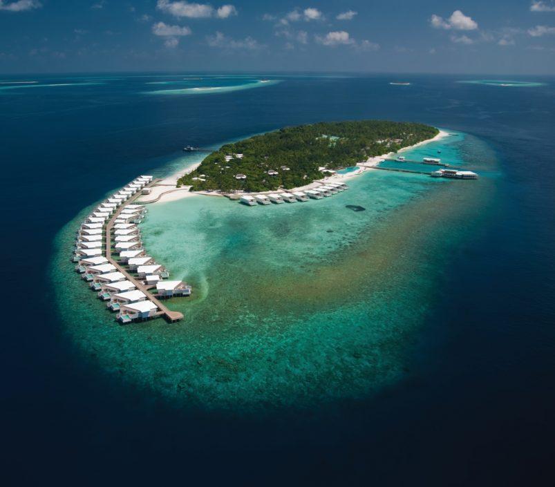 Amilla Fushi Luxury Resort and Residences - Baa Atoll, Maldives - Overwater Villa Aerial