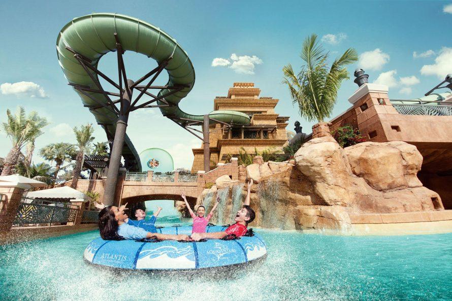 Atlantis The Palm Luxury Resort - Crescent Rd, Dubai, UAE - Aquaventure Waterpark Slide Pool