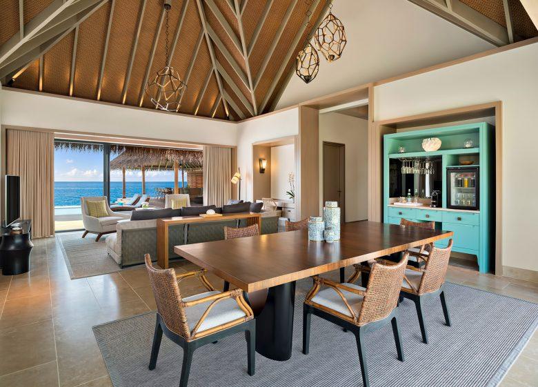 Waldorf Astoria Maldives Ithaafushi Luxury Resort - Ithaafushi Island, Maldives - Overwater Villa Living Room