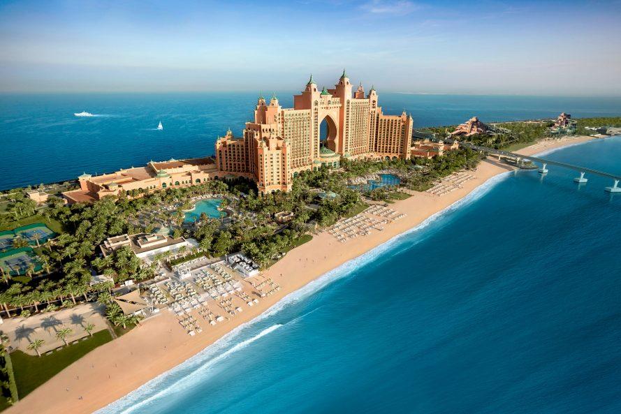 Atlantis The Palm Luxury Resort - Crescent Rd, Dubai, UAE - Hotel Aerial