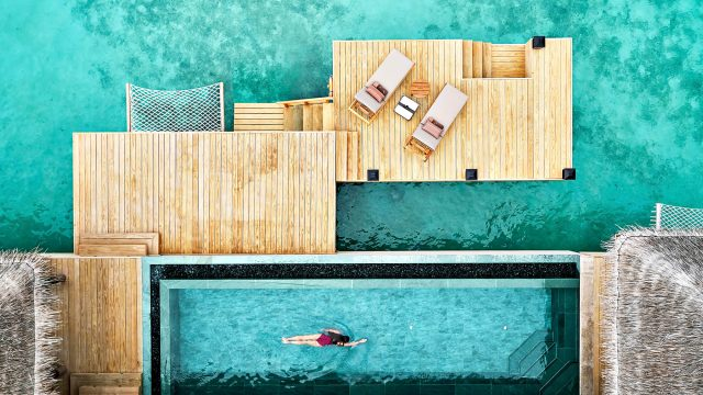 Joali Maldives Luxury Resort - Muravandhoo Island, Maldives - Water Villa Infinity Pool Overhead