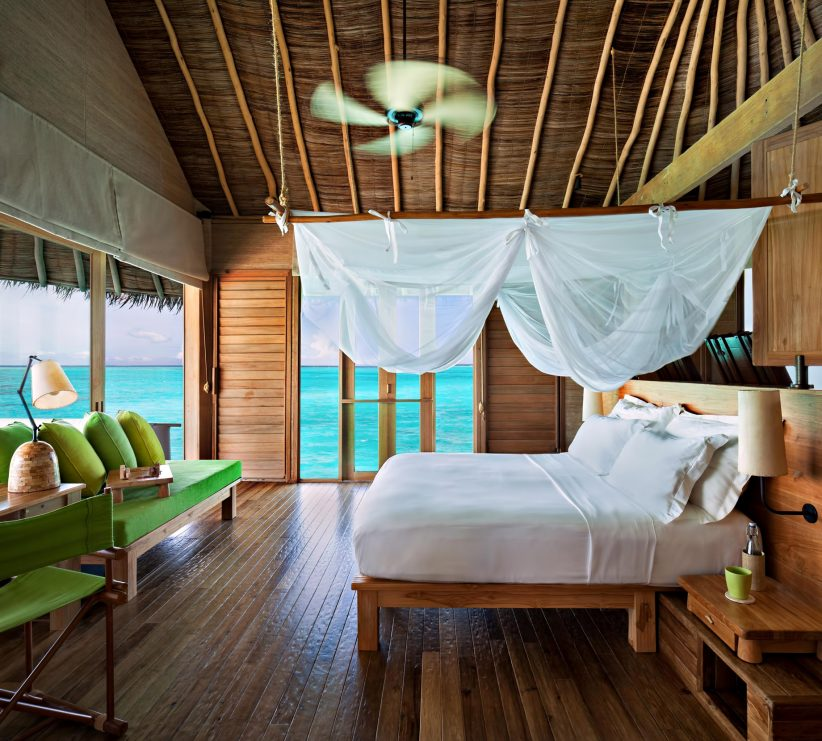 Six Senses Laamu Luxury Resort - Laamu Atoll, Maldives - Overwater Villa Bedroom